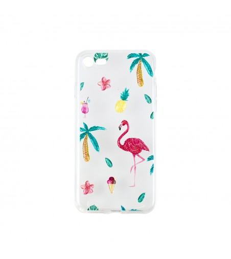 Husa iphone 7/8 Pami Silicon Art Flamingo