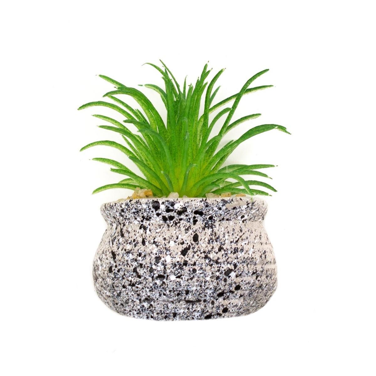 Planta suculenta artificiala tip magnet frigider Pami Flower 6x3.5 cm Verde F419-293-3