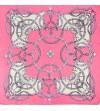 Batic dama matase naturala Pami, inima roz