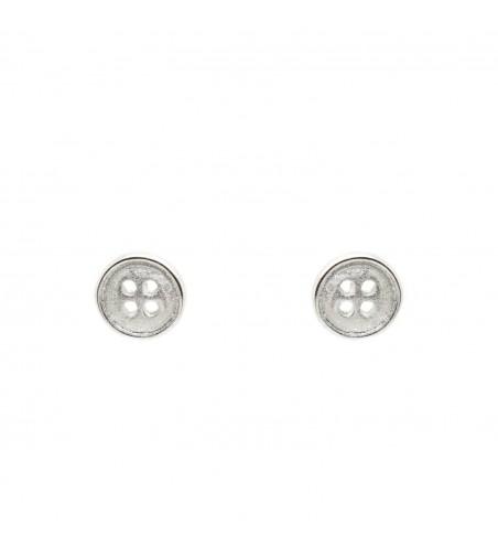 Cercei nasturi Argint 925, CCA-20, argintiu