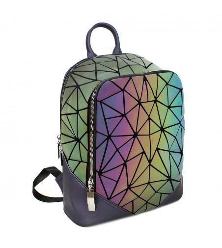 Rucsac dama reflectorizant, 6491, 32x26x16 cm, Multicolor